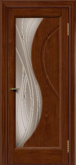 Двери ЛайнДор Прага 2 тон 10 стекло Волна бронза
