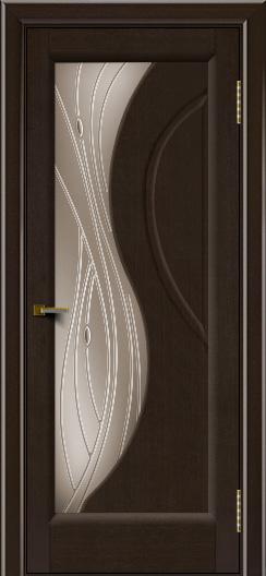 Двери ЛайнДор Прага 2 тон 12 стекло Волна бронза