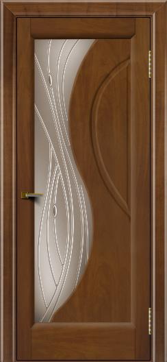 Двери ЛайнДор Прага 2 тон 23 стекло Волна бронза
