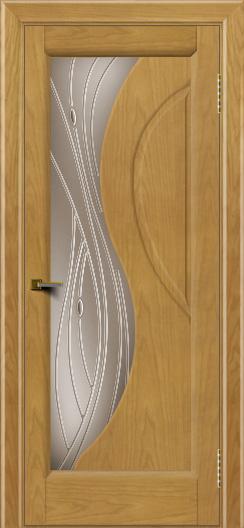 Двери ЛайнДор Прага 2 тон 24 стекло Волна бронза
