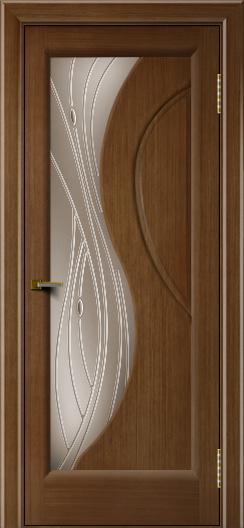 Двери ЛайнДор Прага 2 тон 5 стекло Волна бронза