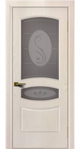Двери ЛайнДор Алина жемчуг тон 27 стекло Алина бронза