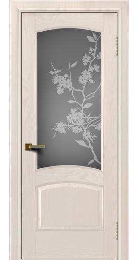 Двери ЛайнДор Анталия жемчуг тон 27 стекло Сакура
