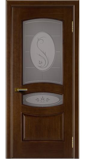 Двери ЛайнДор Алина орех тон 2 стекло Алина бронза