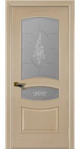 Двери ЛайнДор Алина ясень тон 3 стекло Роза
