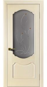 Двери ЛайнДор Богема беленый дуб тон 16 стекло Ковыль