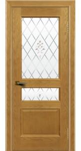 Двери ЛайнДор Калина ясень тон 24 стекло Лилия