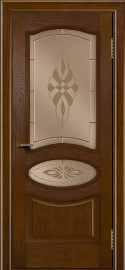 Двери ЛайнДор Оливия тон 30 стекло Византия бронза