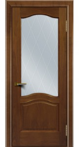 Двери ЛайнДор Пронто американский орех тон 23 стекло Лондон светлое
