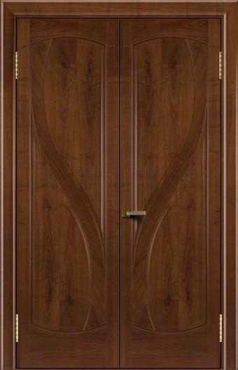 Двери Лайндор модель Новый стиль американский орех 23 двойная глухая