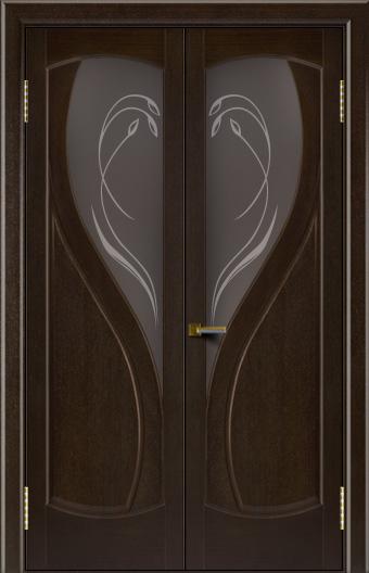 Двери Лайндор модель Новый стиль венге 12 двойная стекло