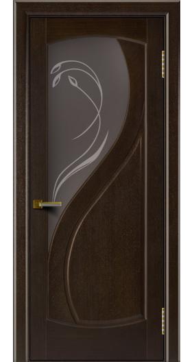 Двери Лайндор модель Новый стиль венге 12 стекло Новый стиль