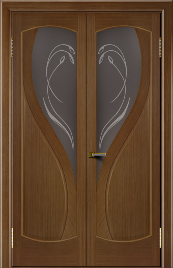 Двери Лайндор модель Новый стиль дуб 5 двойная стекло
