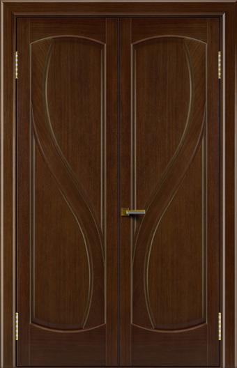 Двери Лайндор модель Новый стиль орех 2 двойная глухая