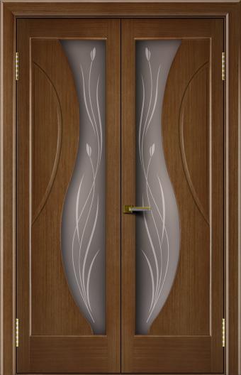 Двери Лайндор модель Прага дуб 5 двойная стекло