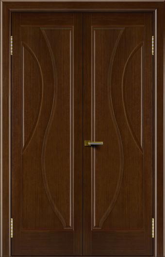 Двери Лайндор модель Прага орех 2 двойная