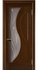 Двери Лайндор модель Прага орех 2 стекло Прага