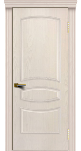 Двери ЛайнДор Алина жемчуг тон 27 глухая карниз
