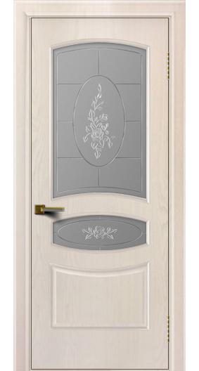 Двери ЛайнДор Алина жемчуг тон 27 стекло Роза