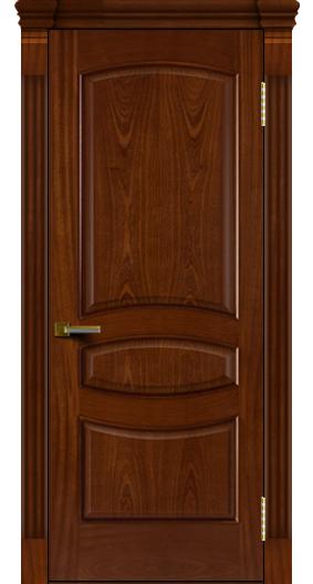Двери ЛайнДор Алина красное дерево тон 10 глухая капитель 7 эл.