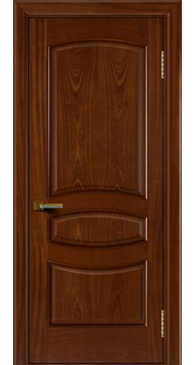 Двери ЛайнДор Алина красное дерево тон 10 глухая
