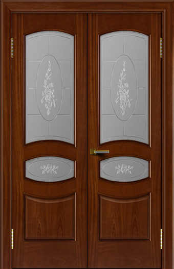 Двери ЛайнДор Алина красное дерево тон 10 двойная