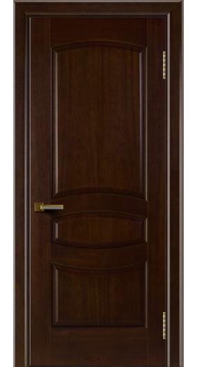 Двери ЛайнДор Алина красное дерево тон 18 глухая