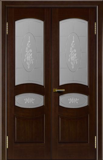 Двери ЛайнДор Алина красное дерево тон 18 двойная