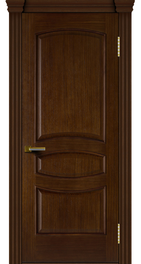 Двери ЛайнДор Алина орех тон 2 глухая капитель 3 эл.
