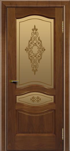 Двери ЛайнДор Амелия америеанский орех тон 23 стекло Айрис