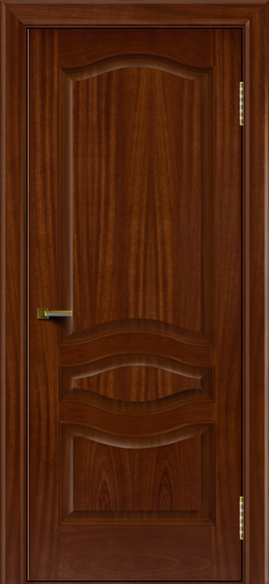 Двери ЛайнДор Амелия красное дерево тон 10 глухая