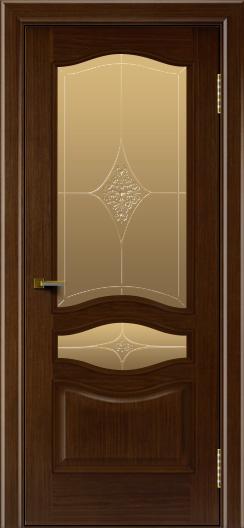 Двери ЛайнДор Амелия орех тон 2 стекло Амелия бронза