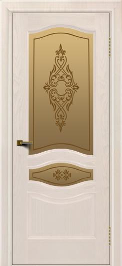 Двери ЛайнДор Амелия ясень жемчуг тон 27 стекло Айрис