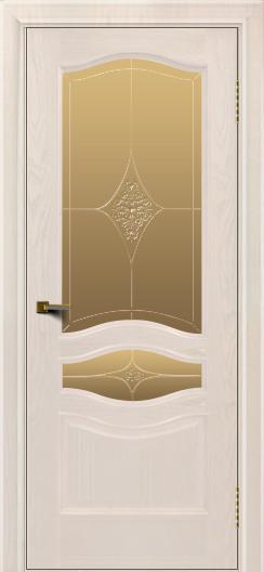 Двери ЛайнДор Амелия ясень жемчуг тон 27 стекло Амелия бронза