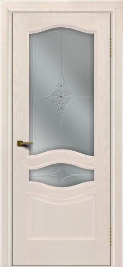 Двери ЛайнДор Амелия ясень жемчуг тон 27 стекло Амелия