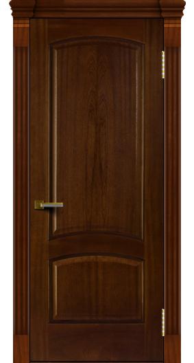 Двери ЛайнДор Анталия красное дерево тон 10 глухая капитель 7 эл.