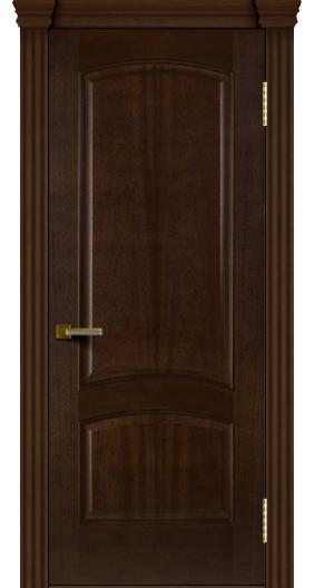 Двери ЛайнДор Анталия красное дерево тон 18 глухая капитель 3 эл.
