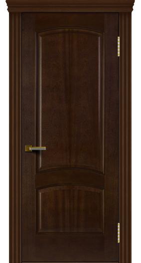 Двери ЛайнДор Анталия красное дерево тон 18 глухая карниз