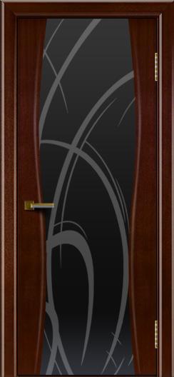 Двери ЛайнДор Арабика американский орех тон 19 стекло Арабика