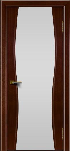 Двери ЛайнДор Арабика американский орех тон 19 стекло Белое