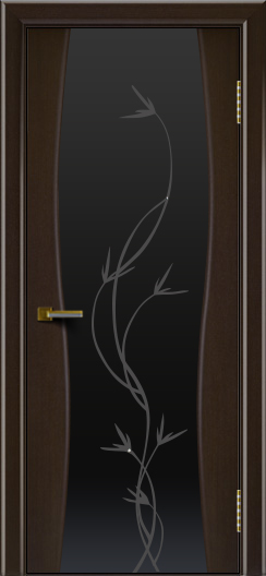 Двери ЛайнДор Арабика венге тон 12 стекло Флора