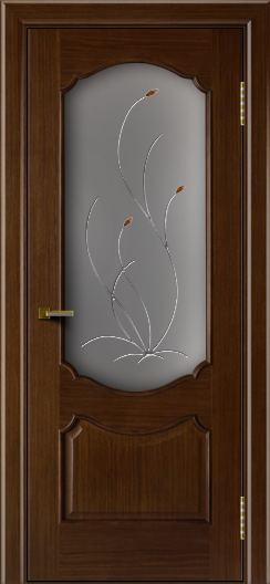 Двери ЛайнДор Богема орех тон 2 стекло Ковыль