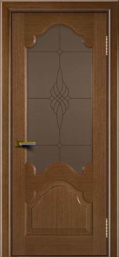 Двери ЛайнДор Верона дуб тон 5 стекло Бронза