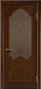 Двери ЛайнДор Верона орех тон 2 стекло Антик