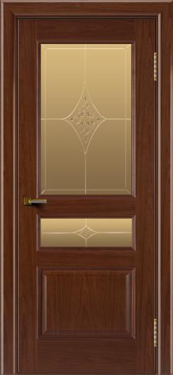 Двери ЛайнДор Калина вишня тон 6 стекло Гелиос
