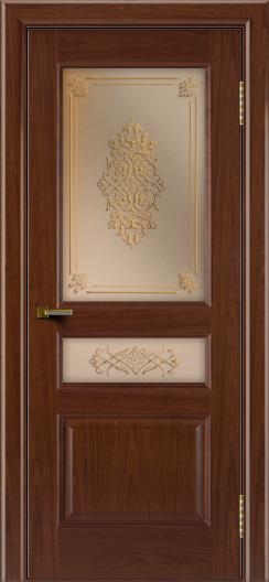 Двери ЛайнДор Калина вишня тон 6 стекло Дамаск бронза 2