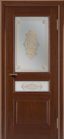 Двери ЛайнДор Калина вишня тон 6 стекло Дамаск