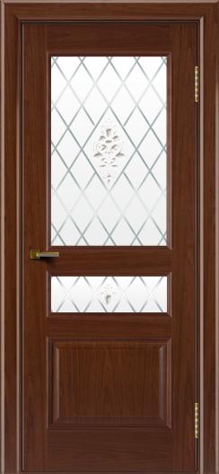 Двери ЛайнДор Калина вишня тон 6 стекло Лилия