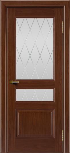Двери ЛайнДор Калина вишня тон 6 стекло Лондон
