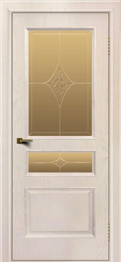 Двери ЛайнДор Калина ясень жемчуг тон 27 стекло Гелиос